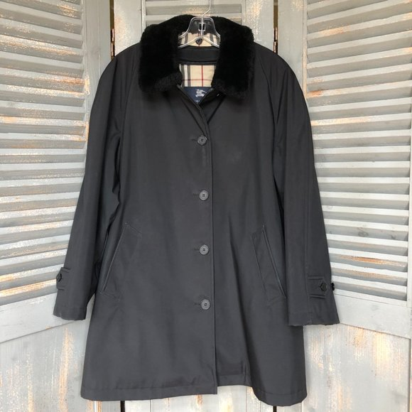 Burberry Removable Liner/Faux Fur Collar Raincoat